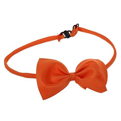 SODIAL (R) Hunde Katzen Haustier Fliege krawatte Halsschmuck Halsband Hundefliege Hundekrawatte dog Pet tie Necktie orange