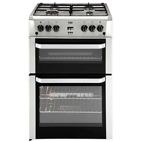 Beko BDVG694SP Freestanding 105L Silver–Stove (Independent, Silver, Rotary, Front, Electronic, Enamelled Steel)