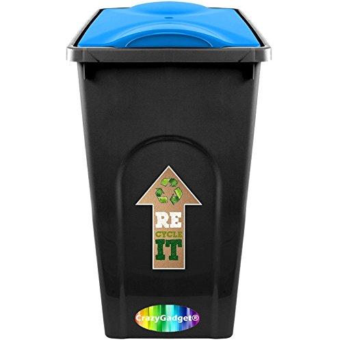 CrazyGadget-50L-50-Litre-Rubbish-Plastic-Recycle-Kitchen-Home-Garden-Outdoor-Indoor-Waste-Bin-Dustbin