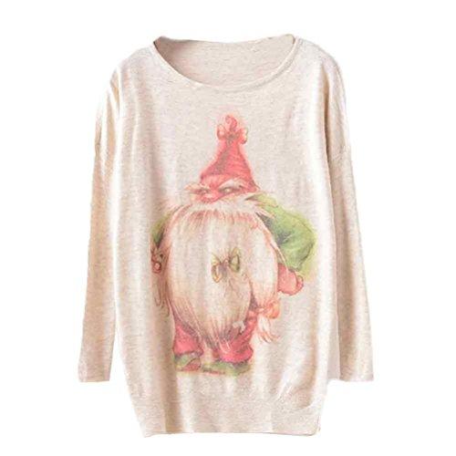Maglione Natale Da donna batwingManica lunga Colore sciolto knit Maglieria Top,Christmas Sweater Knitwear Tops Rawdah C(46)