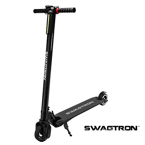 SwagTron Swagger, Scooter Elettrico Unisex Bambini, Nero, Taglia Unica