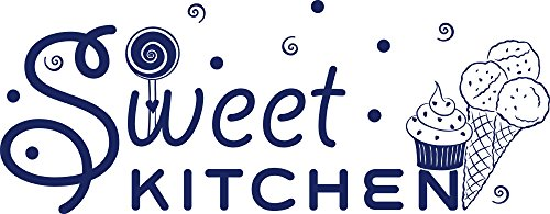 GRAZDesign Wanddeko Ideen Cupcake - Wandgestaltung Küche Sweet Kitchen - Wandtattoo English / 146x57cm / 049 königsblau