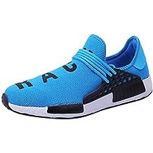 WWricotta LuckyGirls Zapatillas de Correr Hombre Mujer Par Estampado Patchwork Casual Cómodas Calzado para Deporte Zapatos