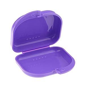 Gebissdose Prothesendose Zahnspangendose Dentalbox Spangendose Prothesenbox Dose – Lila