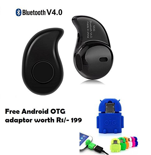 Premium Design Spice Smart Flo Pace Mi-422 Compatible Set of Cute Little OTG Adaptor+ smart Bluetooth Headset with mic ( Random Color)  available at amazon for Rs.295