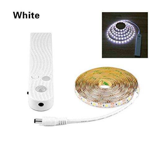 Unter Schrank Küche Lichter, 2m warmes Licht LED Schrankleuchte Wireless PIR Motion Sensor LED...