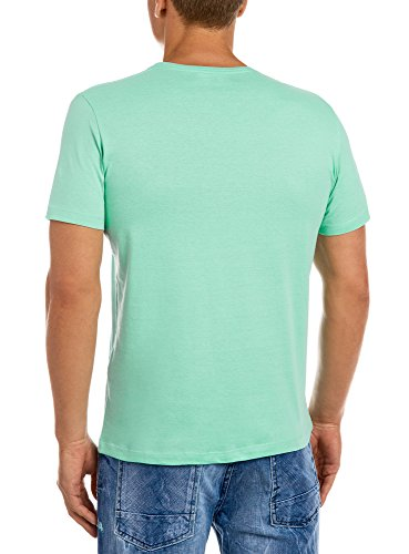 oodji Ultra Herren T-Shirt mit Sommerdruck Grün (6C79P)