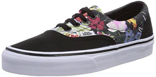 Vans U Era, Baskets mode mixte adulte Noir ((Floral) Black/)
