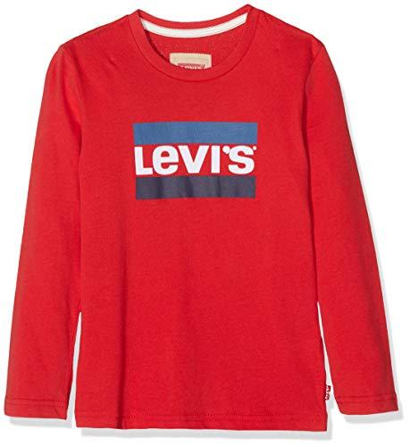 Levi's kids tee-Shirt NM10057, Camiseta para Niños, Rojo (Vermilion 36), 4 años (Talla del Fabricante: 4A)