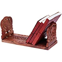 Hand Crafted Rosewood espandibile pieghevole Libro e Cd del basamento del supporto della mensola della cremagliera per la casa Idee regalo