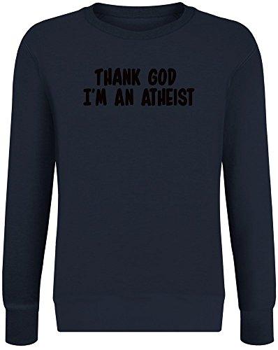 Gott sei Dank Bin ich EIN Atheist - Thank God I'm An Atheist Sweatshirt Jumper Pullover for Men & Women Soft Cotton & Polyester Blend Unisex Clothing X-Large