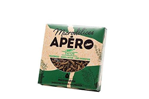Micronutris Insectes comestibles - Apéro 250 Thym mélange de grillons et vers de farine