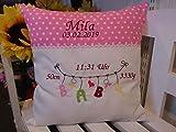 Kissen mit Namen (Baby Wäscheleine rosa 07)