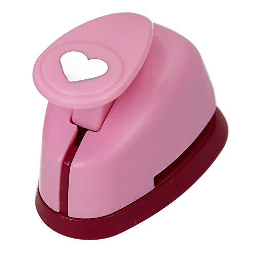 efco Stanzer XS, Herz Motivstanzer, Kern: Metall, pink, 5 x 3,5 x 4 cm -
