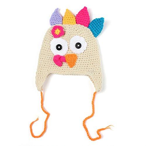 Zottom Babys Fotografie Requisiten Chiken Cap handgemachte häkeln Truthahn Hut (Dallas Cowboys Kostüm Halloween)
