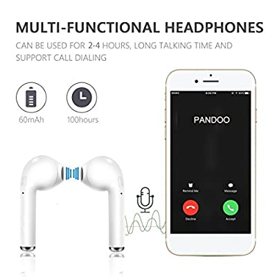 Wireless Earbuds, Bluetooth Earphone Stereo Headset Mini Cordless TWS Sports Headset V4.2 for Women Men Kids with Noise Canceling Build- in Mic Charging Case for Apple iphone Samsung galaxy S8 Most Smartphones