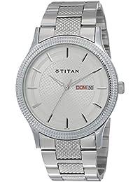 Titan Karishma Ottoman Analog Silver Dial Men's Watch -NK1650SM01