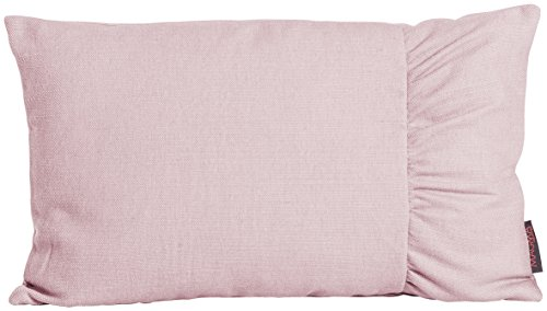 Beties Mood Housse de coussin en tissu uni avec embrasse latérale, env. 30 x 50 cm, Vieux rose, ca. 30x50