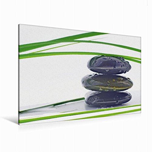 Calvendo Premium Textil-Leinwand 120 cm x 80 cm Quer Wassertropfen | Wandbild, Bild auf Keilrahmen, Fertigbild auf Echter Leinwand, Leinwanddruck: Wellness und Entspannung Gesundheit Gesundheit
