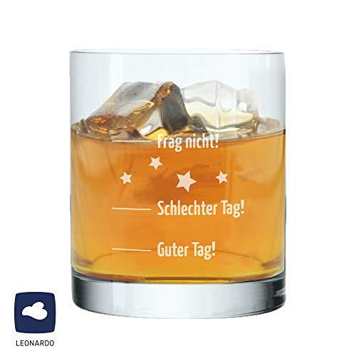 """Whiskyglas \""""Guter Tag, Schlechter Tag - Frag nicht!\"""", Geschenk für Männer, Herren, Geschenkidee, Geburtstagsgeschenk, Weihnachtsgeschenk, Geschenk zum Vatertag, für ihn"""