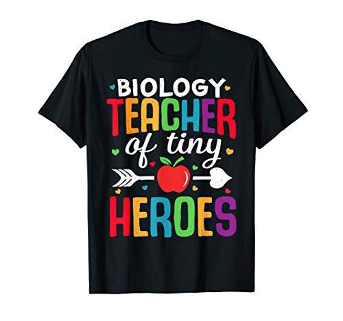 Biologielehrer zurück zum ersten Schultag Tiny Heroes 1st T-Shirt