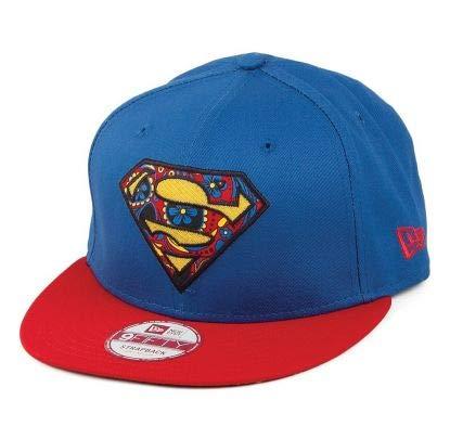 New Era Floral Infill Superman Snapback Cap - Blue / Red
