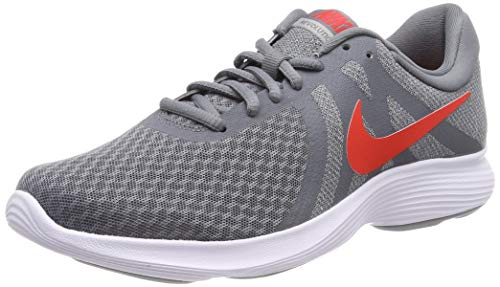 the best attitude d661c eb98d Nike Men s Revolution 4 EU Training Shoes Multicolour (Cool Habanero  Red-Wolf Grey-