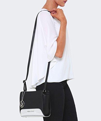 Armani Jeans Mirrored Crossbody Shoulder Bag Rosa Nero