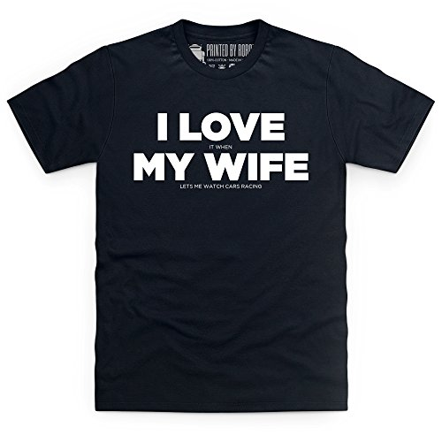 I Love Car Racing T-shirt, Uomo Nero