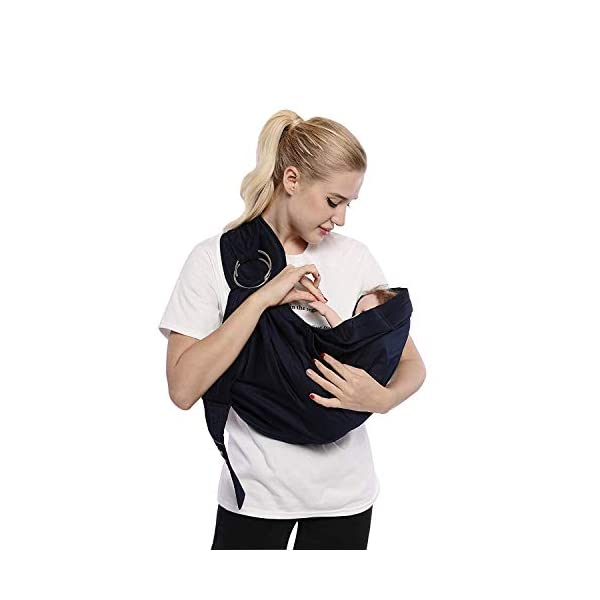 Cuby Baby Sling Wrap Carrier from Newborns to Todder Child (Gray) CUBY ★【HIGH-QUALITY MATERIALS】:It is made of 100% cotton. Lightweight and breathable, it is comfortable for the care. ★ 【SUITABLE AGE】:Suitable for babies 0-32 months and under 33 lbs. In addition, babies under 20 lbs will be more comfortable to use. ★【EASY TO ADJUST】:Our baby carrier is equipped with a multifunction sling ring that quickly adjusts the length of the sling so your child can carry it easily and safely. 3