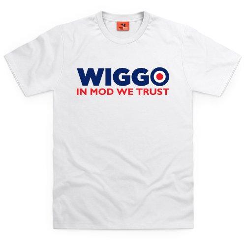 Wiggo Mod T-Shirt, Herren Wei