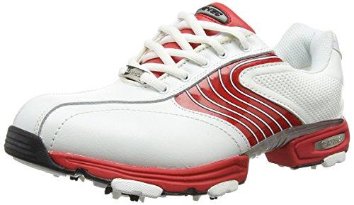 Hi-Tec Ht Sport Scarpe da Golf Uomo, Bianco (White/red 012), 42 EU