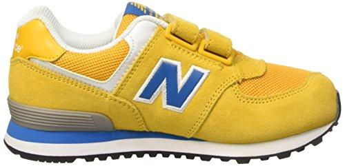 New Balance KG574, Sneakers Bambino Giallo (Yellow/Blue Suede/Mesh)