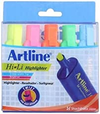 ARTLINE HI-LI HIGHLIGHTER - PACK OF 5 MIX COLOURS