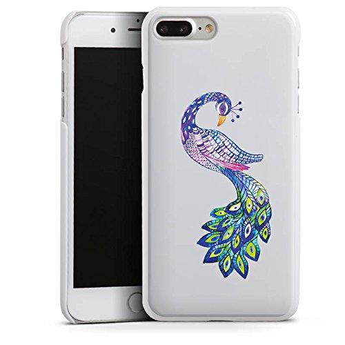 Apple iPhone 7 Silikon Hülle Case Schutzhülle Pfau ohne Hintergrund Feder Hard Case weiß