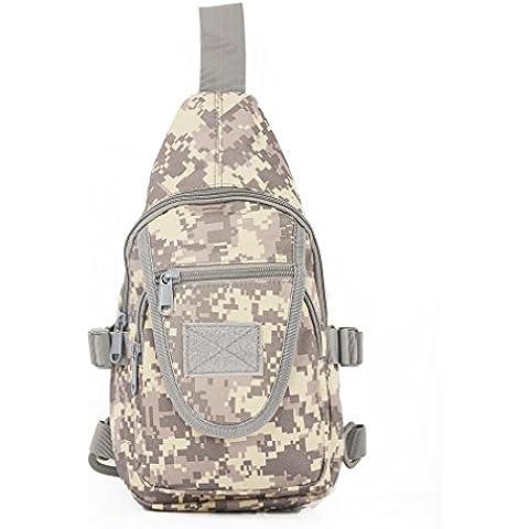 Militare Borsa A Tracolla Cross Body Petto Pack tracolla zaino esterno tattico Molle EDC Pouch Utility per iPad/iPhone 6S Plus in nylon da trekking zaino, ACU