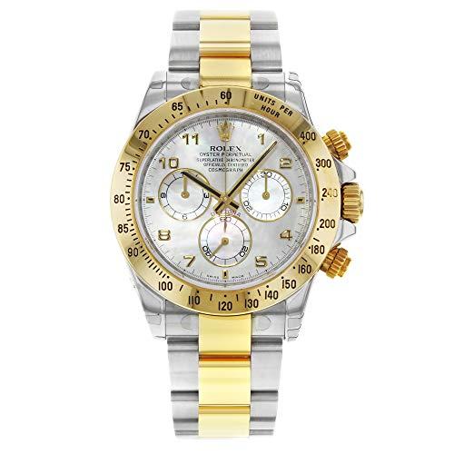 Rolex Daytona 116523 2006 White MOP Steel 18K Yellow Gold Automatic Men's Watch