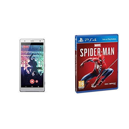 Oferta de Sony Xperia XZ2, color plata + Marvels Spider-Man (PS4)