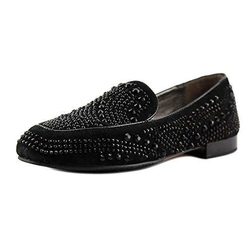 Donald J Pliner Elana Rund Wildleder Slipper Black