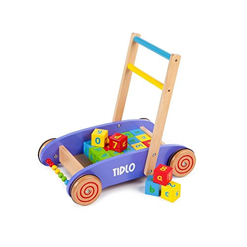 Tidlo Baby Walker with Alphabet Blocks
