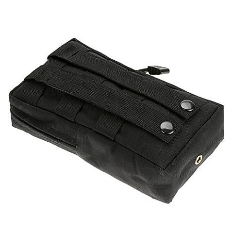 hunpta Sport Gilet tactique Utility Taille Pochette Sac de taille de Chasse extérieur, noir