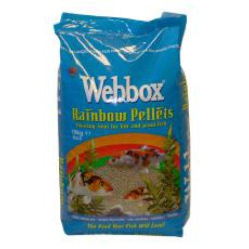 Webbox Rainbow Mixed Pond Pellets, 10 kg