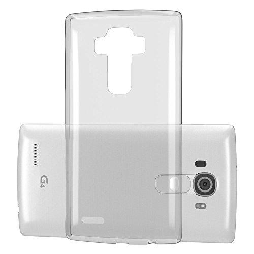 LG G5 Hülle, EAZY CASE Premium Flip Case Handyhülle - Schutzhülle zum Aufklappen in Schwarz Transparent
