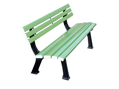 LIGNIT Sitzbank mit Rückenlehne, grün, 200 x 60 x 82 cm, 64grün