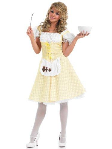 Goldilocks - Längere Länge Kleid - Adult (Goldilocks Erwachsene Kostüme)