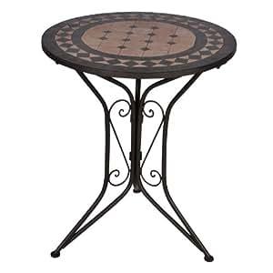 my garden mosaik tisch eisen pulverbeschichtet mosaik platte bronce sandfarben. Black Bedroom Furniture Sets. Home Design Ideas