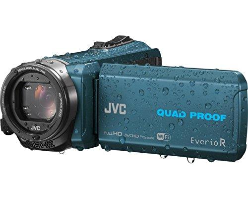 Jvc gz-rx645aeu videocamera full hd quad proof (subacquea fino 5m e resistente a forti getti d'acqua, antiurto, antipolvere, anticongelamento), fotocamera 10 megapixel, wi-fi, memoria integrata da 8gb, petrolio