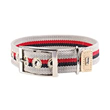 HUNTER Dog Collar – New Orleans Stripes Cotton