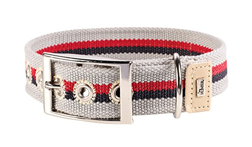 HUNTER New Orleans Stripes Collier en Coton pour Chien