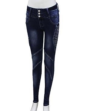 FARINA® 2003 Denim pantalones, vaqueros de mujer, Push up/Levanta cola, pantalones vaqueros elasticos colombian...